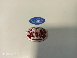 TARGHETTA ROSSA MAGNETI MARELLI CLACSON MOTO GUZZI S V W GTS GTV GTW SPORT 15 P PL EGRETTA